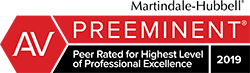 Martindale-Hubbell Preeminent Peer Rated for Highest Level of Professional Excellence logo