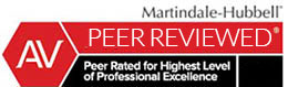 Martindale-Hubbell Peer Reviewed logo